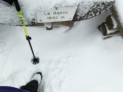 La Bassa Panarotta Lagorai neve fresca