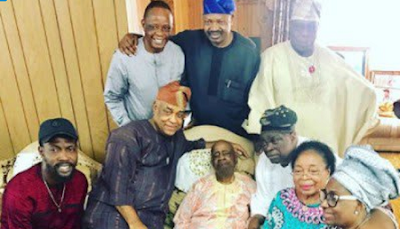 Obasanjo Visits Late Wife's Family Members In Edo State [Photos] #baydorzblogng