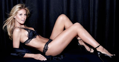 Heidi Klum strips to lingerie for Intimates Campaign Fall Winter Latest