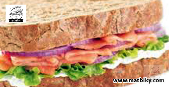 ساندويتش السلمون المدخن