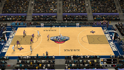 New Orleans Pelicans Official Court Design