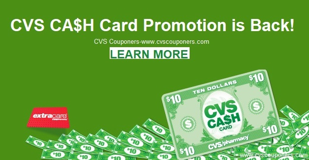 cvs cash card promotion is back