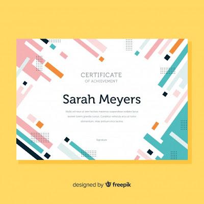 template sertifikat baru