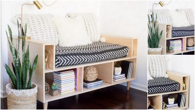 DIY Ξύλινος καναπές - παγκάκι με αποθηκευτικούς χώρους