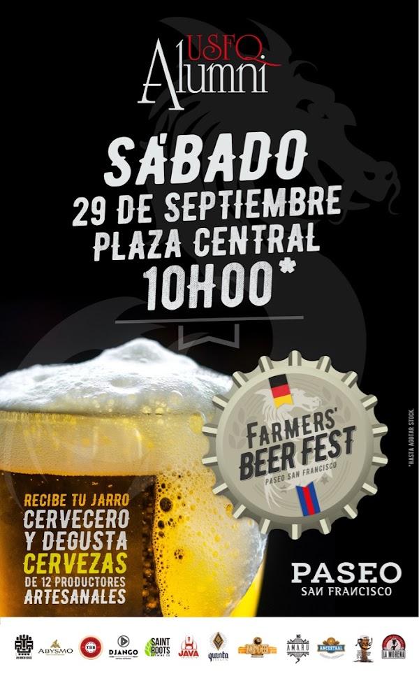 Farmer's Beer Fest, un evento para degustar la mejor cerveza artesanal de Quito