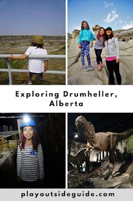 Exploring Drumheller, Alberta pinterest pin