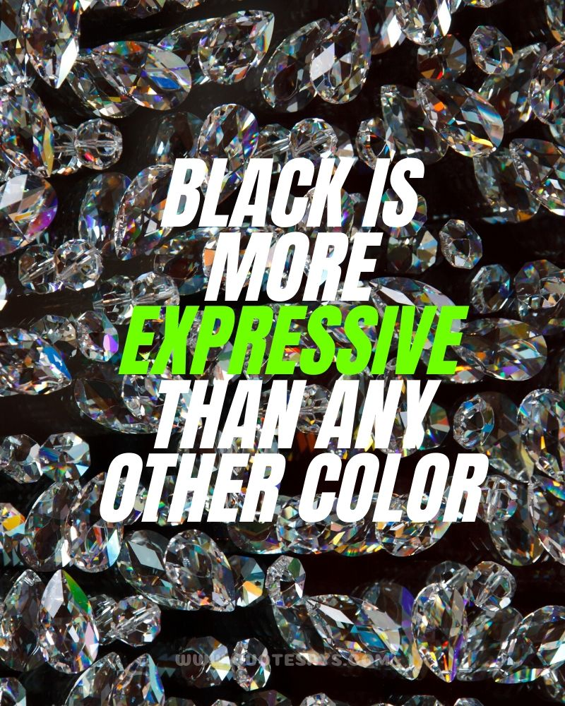 Quotes on black colour with diamonds