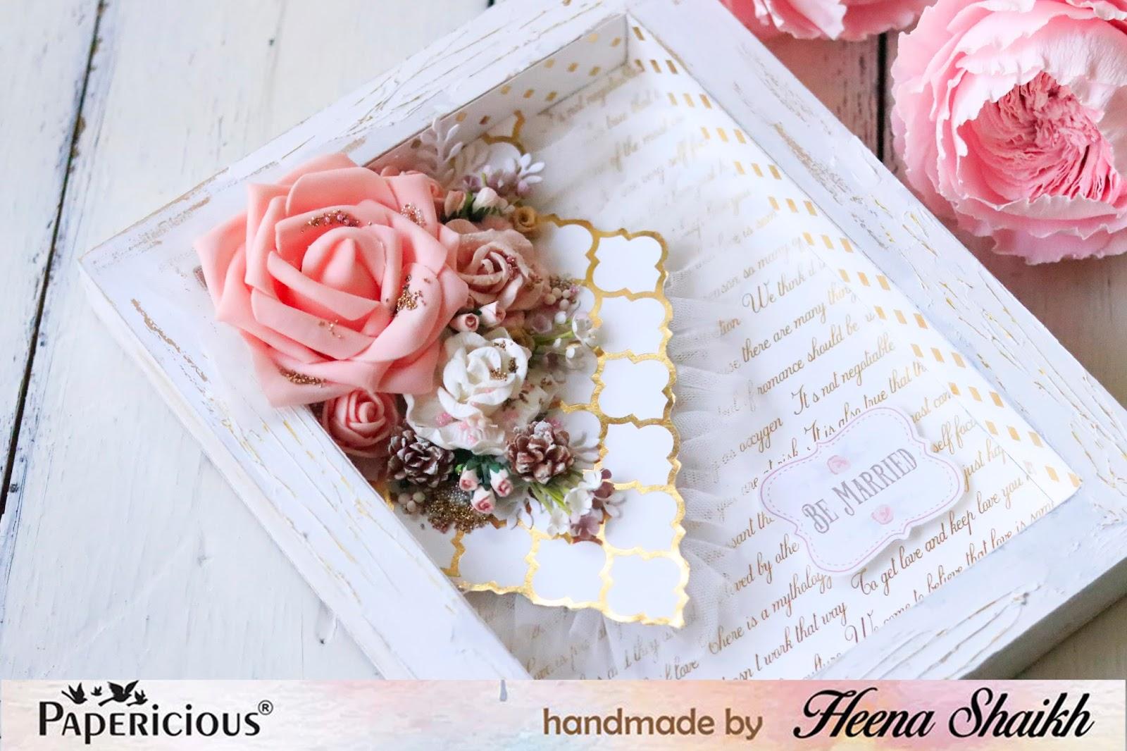 Shabby Chic Wedding Shadow Box | Papericious