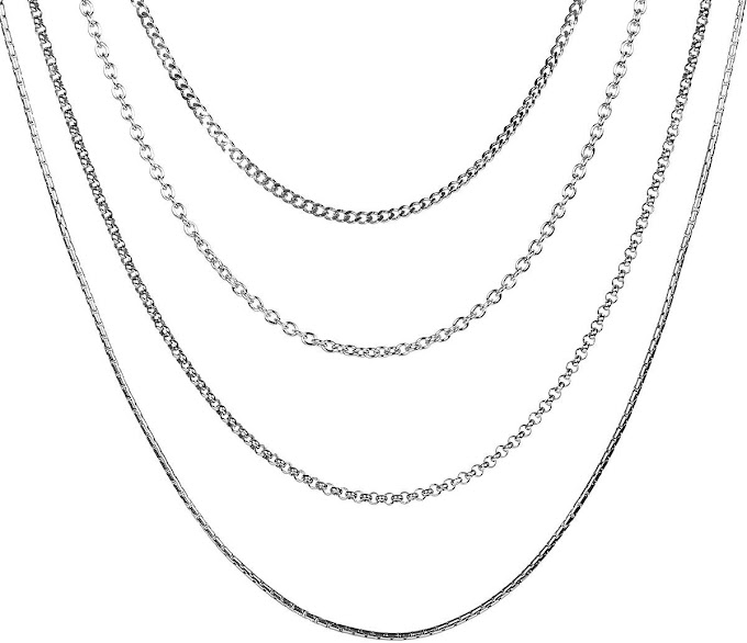Necklace Jewelry Stainless Steel Chain Four Styles 50% off