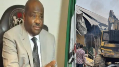 Demolished Hotel Site To Be Converted To Primary School – Gov. Wike