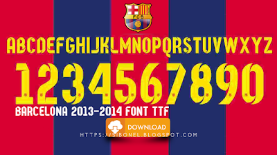 Barcelona 2013-2014 Font TTF