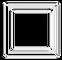 Moldura quadrada cromo - criação Blog PNG-Free