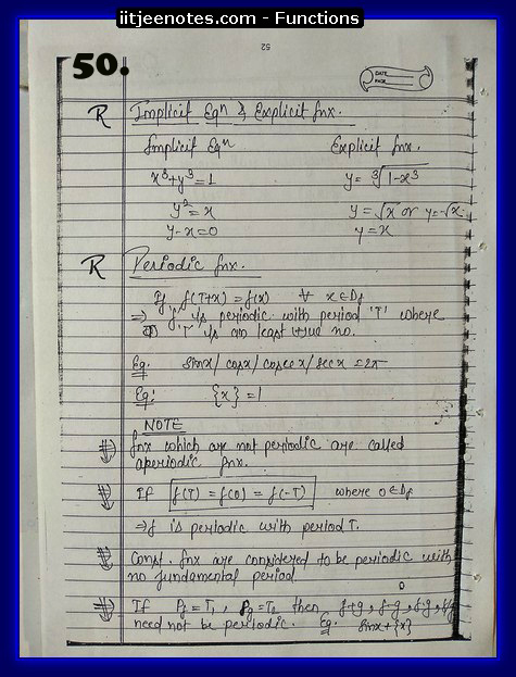 functions notes cbse19