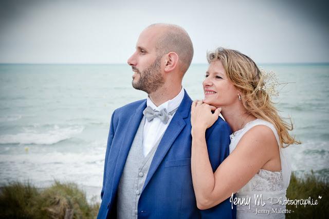 photo couple mariage, portrait mariés à st gilles croix de vie