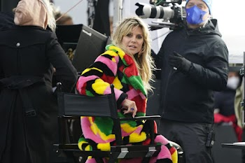 Heidi Klum Clicked on the Set of New Season of Germany's Next Topmodel  19 Nov-2020