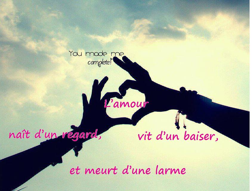 amour ~ Mot d'amour Phrase d'amour Lettre d'amour Poèsie Poèmes d ...