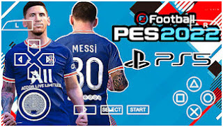 Download eFootball PES 2022 PPSSPP Full European League & New Update Transfer And Face Player HD