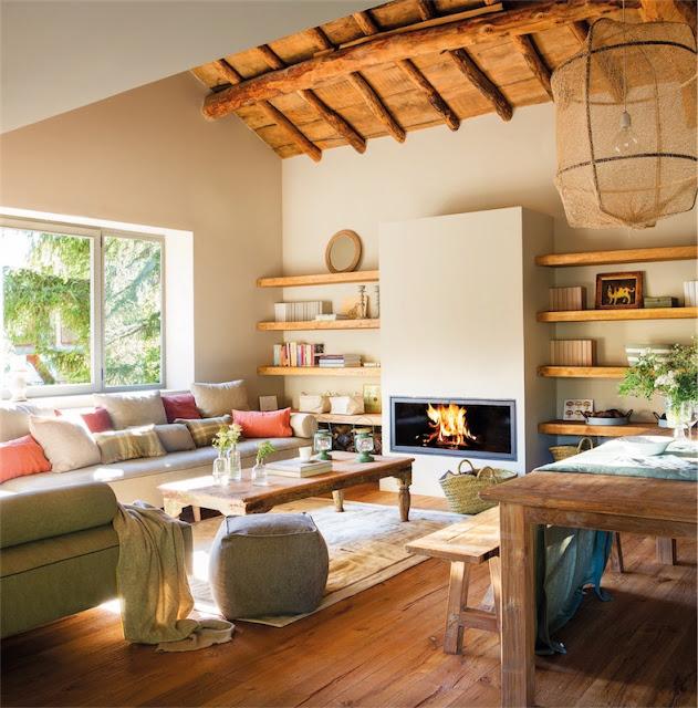 decorar una casa de montaña con el nuevo rústico actualizado