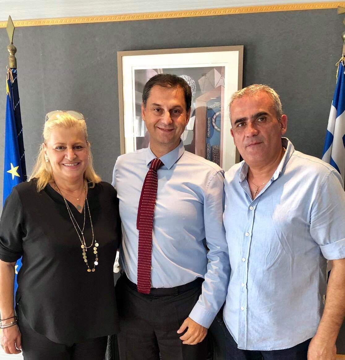Σειρά επισκέψεων της δημάρχου Κασσάνδρας Αναστασίας Χαλκιάς σε Υπουργεία στην Αθήνα.