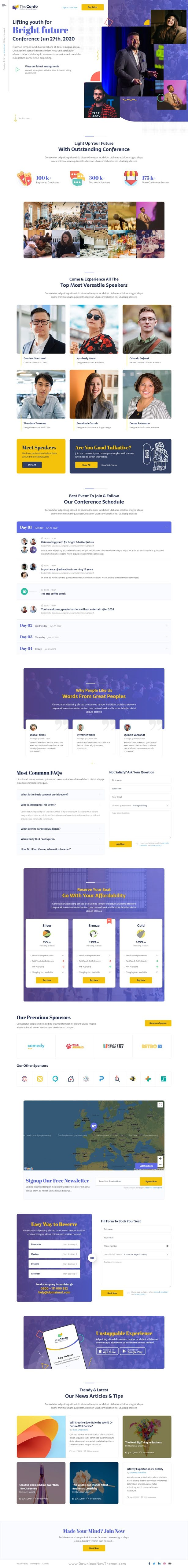 Event Listing Page Template