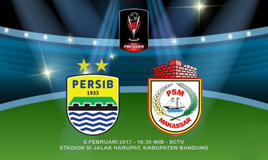 Persib vs PSM Makassar, Piala Presiden 2017