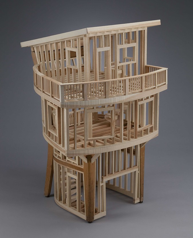 07-Habitation-Ted-Lott-Architecture-in-Upcycled-Furniture-and-Suitcase-Sculptures-www-designstack-co