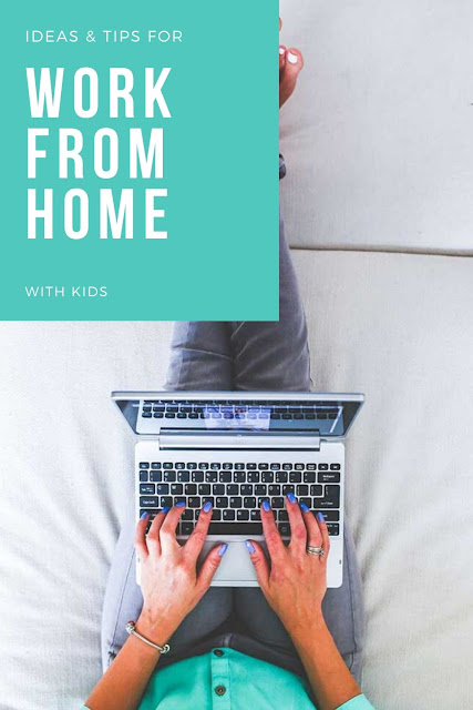 Tips for working from home during quarantine.  How to make a home office and schedule with kids. Get ideas and tips for time management and how to make a new routine schedule with kids. Tips for work at home with kids for mom or dad. #workathome #parenting #withkids #workfromhome