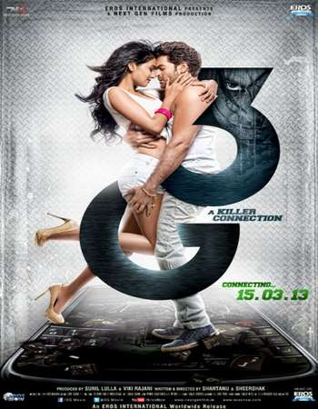 Poster Of 3G - A Killer Connection 2013 Hindi 450MB HDRip 720p ESubs HEVC Watch Online Free Download Worldfree4u