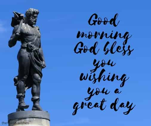 good morning with statue god thor stockholm sky images