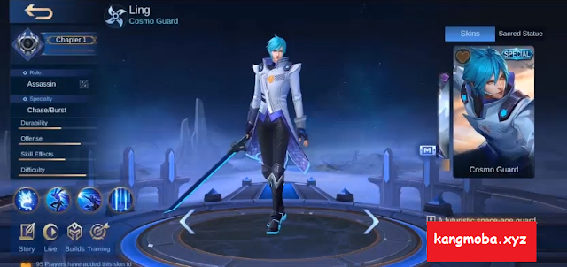 Script Skin Special Ling Cosmo Guard Full Effect Mobile Legends