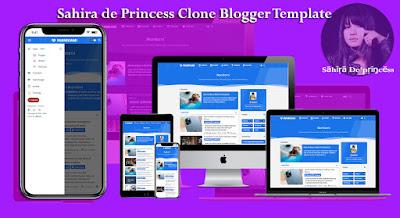Sahira de Princess Clone Responsive Blogger Template | PCodding