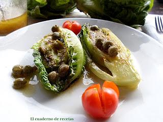 Cogollos a la plancha & Vinagreta de mostaza