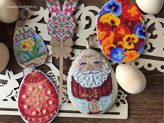 вышивка к пасхе яйца бисером крестиком