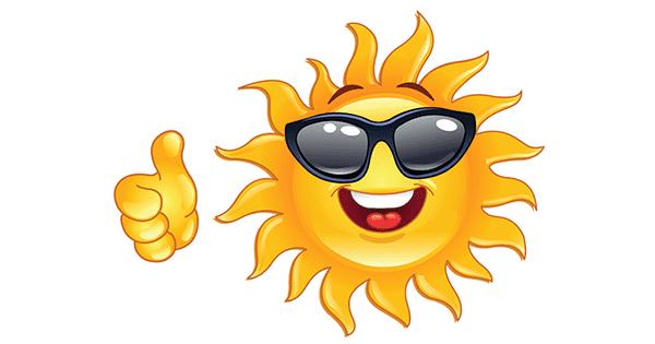Smiling Sun Emoticon | Symbols & Emoticons Symbols Copy And Paste Sun