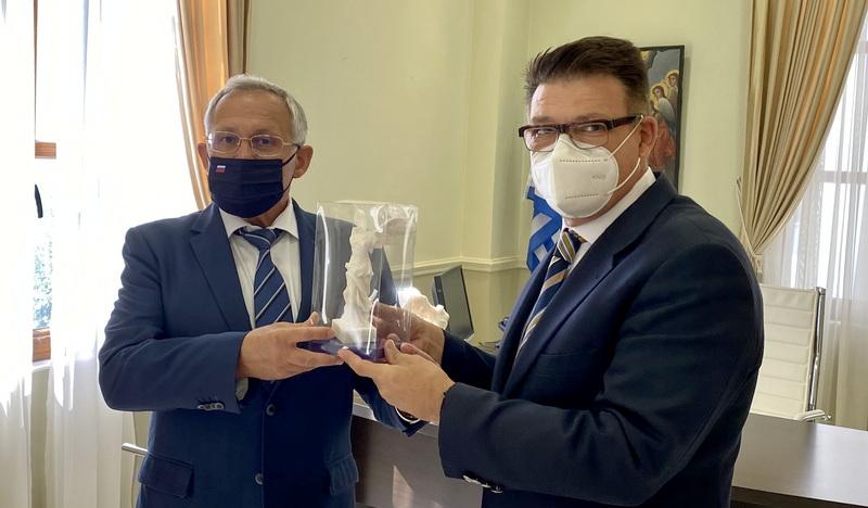 Εθιμοτυπική συνάντηση του Αντιπεριφερειάρχη Έβρου με τον Πρόξενο της Ρωσίας στη Θεσσαλονίκη