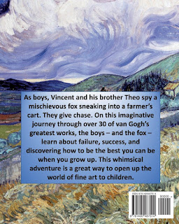 Back cover to Vincent, Theo and the Fox