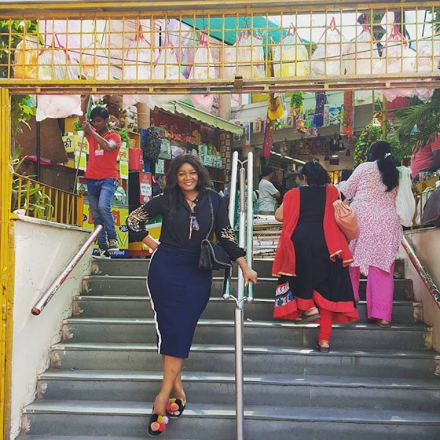 Omotola Jalade Ekeinde having good time in India celebrity news