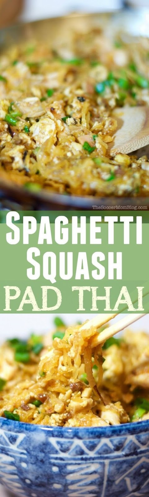 A healthy Spaghetti Squash Pad Thai recipe that tastes so amazing, you'd almost swear it's the real thing! Gluten Free, Paleo, & Keto sauce options!