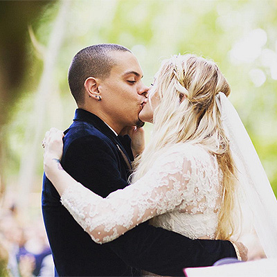 Ashlee Simpson and Evan Ross wedding photo