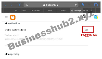 How to input custom ads.txt file on blogger