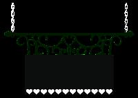 Plaquinha cute heart darkl - Criação Blog PNG-Free
