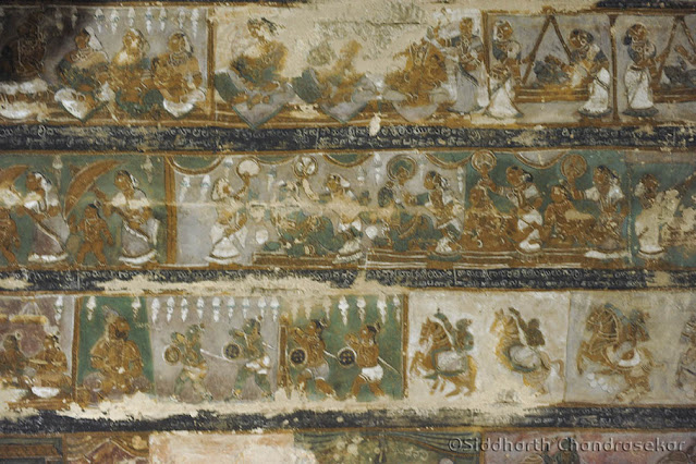 Pudukottai Brahadambal Arai Kasu Amman Temple Frescoes