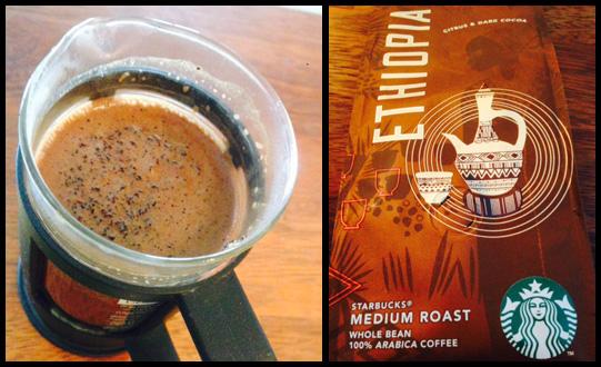 Café Ethiopia de Nespresso - cafetière et paquet