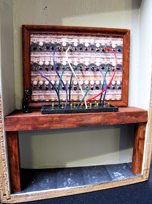 One-twelfth scale miniature telephone exchange.