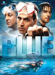 Poster Of Bollywood Movie Blue (2009) 300MB Compressed Small Size Pc Movie Free Download worldfree4u.com
