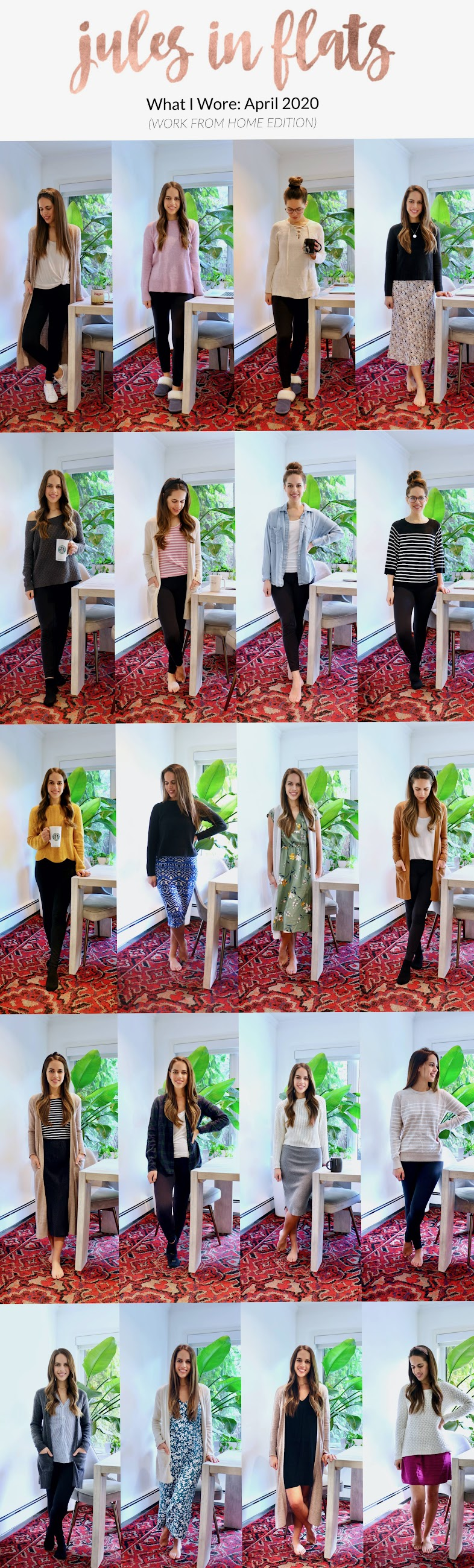 Jules in Flats: Monthly Outfit Roundup April 2020 (Work from Home Looks)