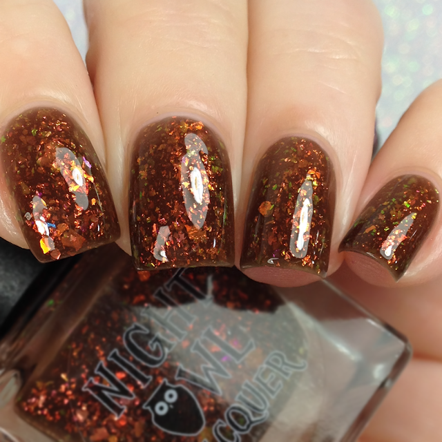 Night Owl Lacquer-Leaf Peeping With Sasquatch