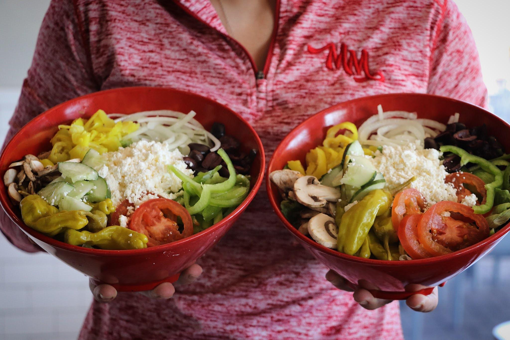 Keto Greek Salad with Olive Oil