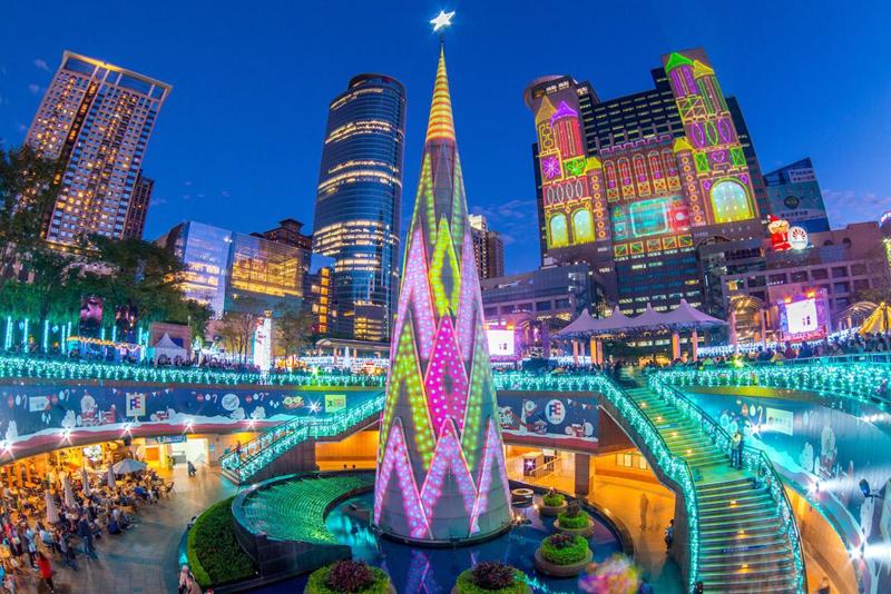 Taipei Christmas tree — Taipei, Taiwan