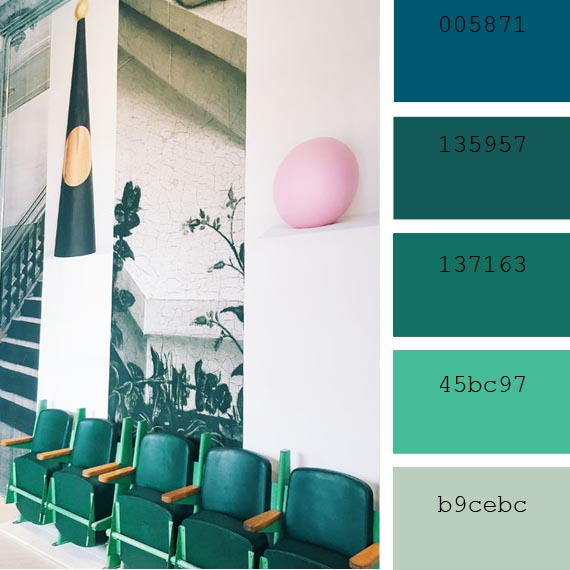 pantone color of the day lyons blue color palette